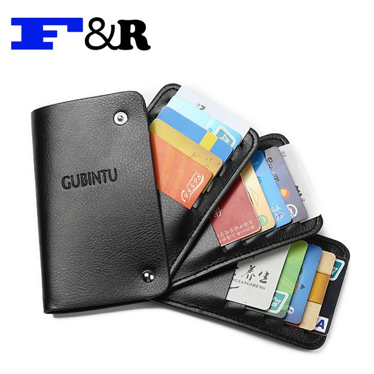 Men & Women Credit Card Holders PU Bank Card Holder Multi Card Cases Large Capacity Card Package