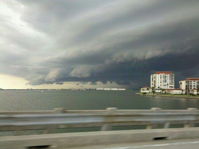 Storm clouds in St Petersburg Florida