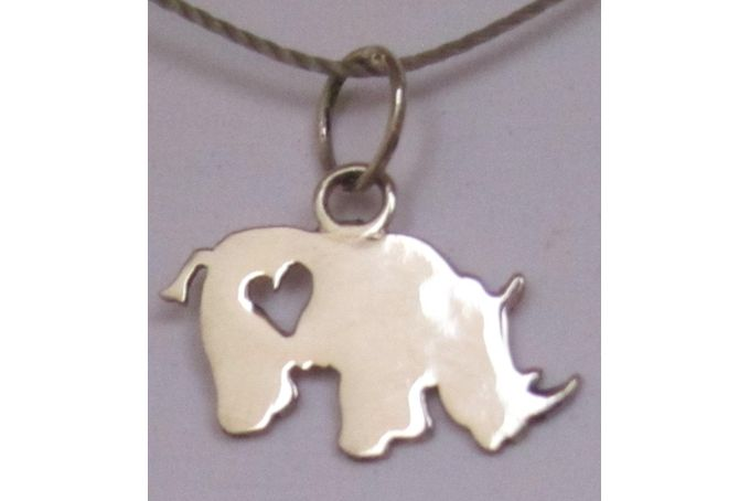 Rhino Charm by Silver Penny Designs on hellopretty.co.za