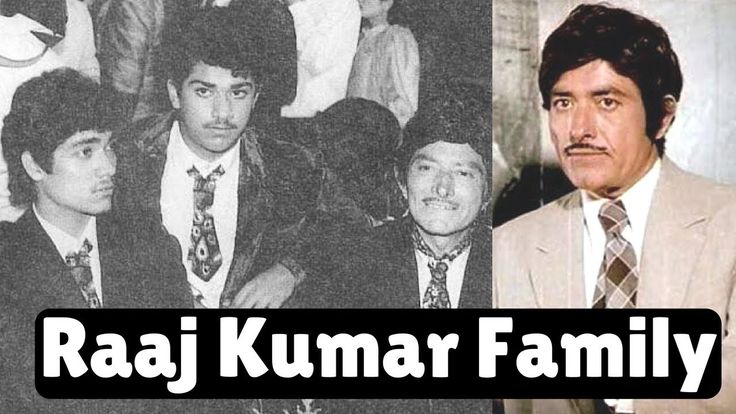Bollywood Actor Raaj Kumar with Family Members