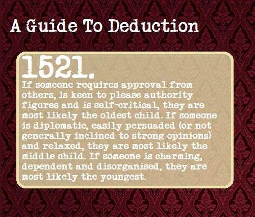 """""""This does not apply to all families of course, but enough so that it can count as a valid deduction."""" Suggested Anonymously"""