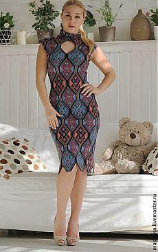 """Платье """"Graffiti"""" - фиолетовый,трикотажное платье,летнее платье,фиолетовое платье"""