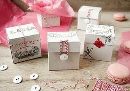Tutoriale DIY: Cómo hacer cajas de cartón decorativas para galletas vía DaWanda.com