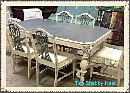 31 best Painted Dining Room Tables images on Pinterest | Painted ...