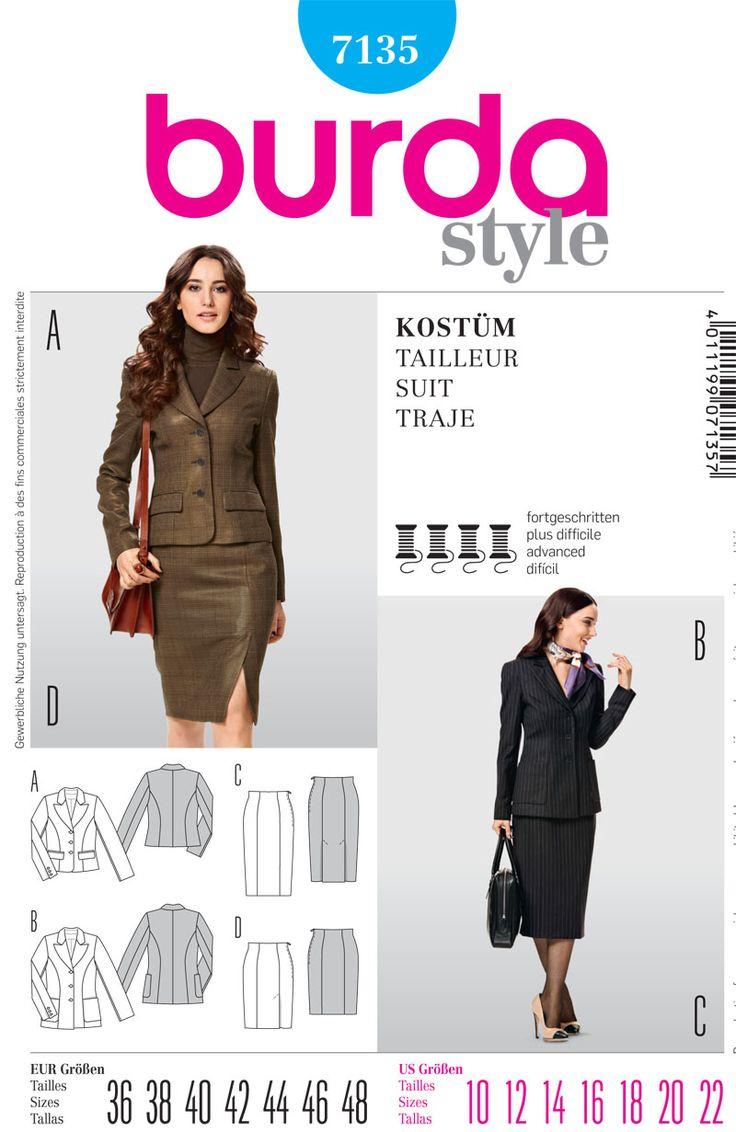 Burda Misses Jacket and skirt 7135