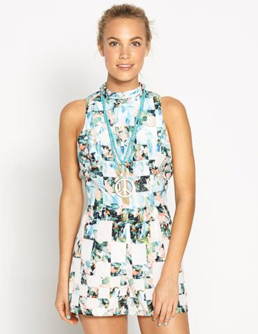 Printed Playsuit @ Dotti