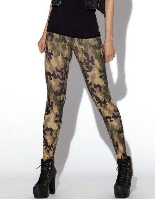 2016 Hot Sale Autumn Winter Sexy Women 2Colors 3D Military Printed Leggings Stretch Elastic Waisted Plus Size Leggings 4XL Pants