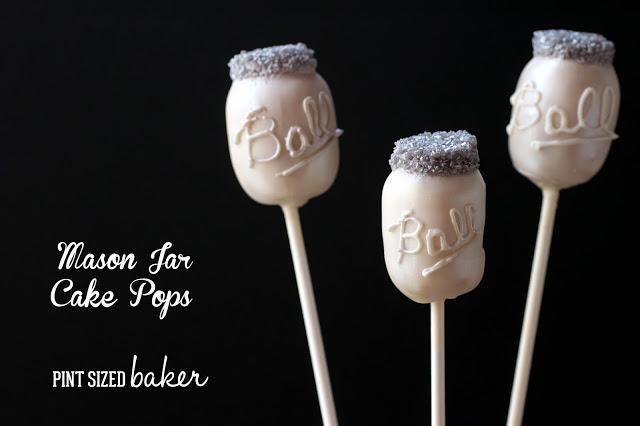 Mason Jar Cake Pops from Pint Sized Baker