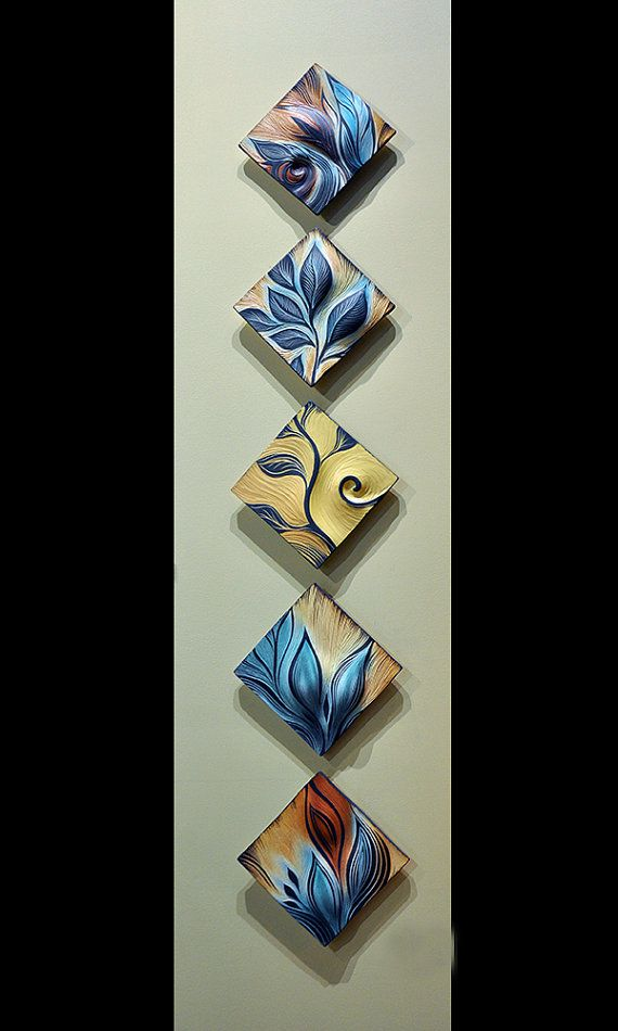 Handmade Decorative Wall Art Tile by NatalieBlakeCeramics on Etsy