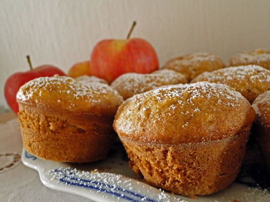 Jablečné muffiny s tvarohovou nádivkou