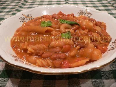 Fazole s těstovinami z Neapole