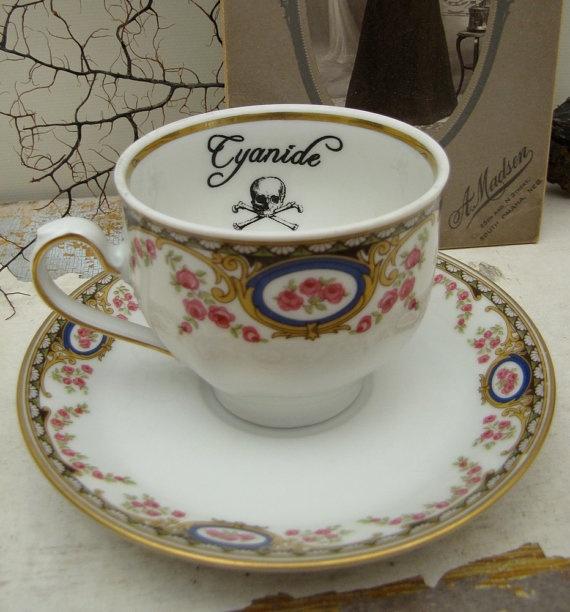 Vintage Meissen Cyanide Poison tea cup and saucer by AustinModern, $34.00