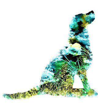 Nostalgic Art - Colorful Dog Art