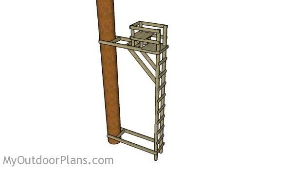 Ladder tree stand plans deer blind plans pinterest for Simple deer blind plans
