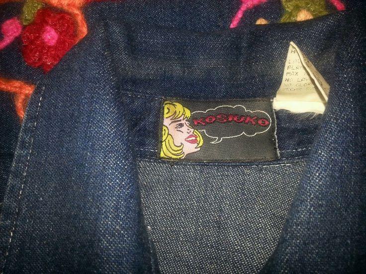 Kosiuko Cosplay Jacket Coat Denim Blue Womens  XS KSK hippie Mod Boho Yarn #Kosiuko #JeanJacket