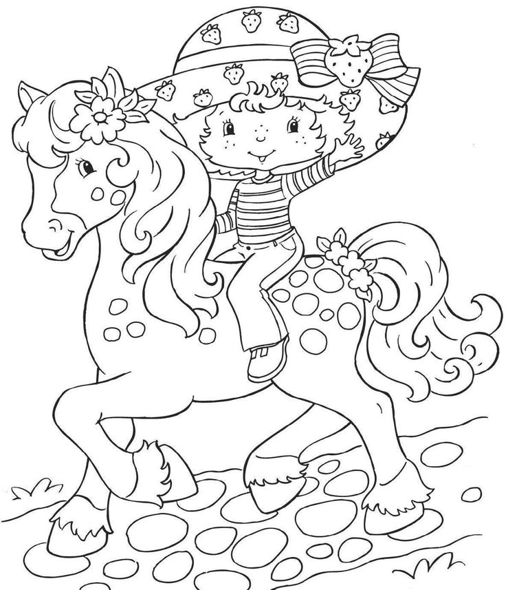 Vintage Strawberry Shortcake Coloring Page