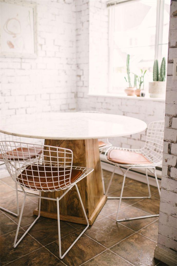 White grid chairs