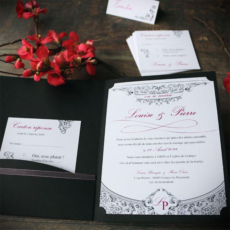 78 best Faire part mariage pochette images on Pinterest