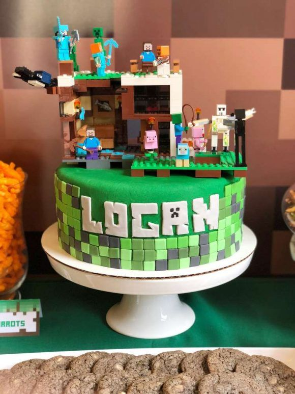 Tremendous Get Ready To Be Blown Away By These 12 Minecraft Cakes Personalised Birthday Cards Sponlily Jamesorg