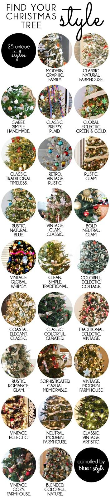 Want to give your Christmas Tree a new look that better fits your style? This is the best place to start! I've rounded up 25 unique Christmas Tree styles to inspire you!