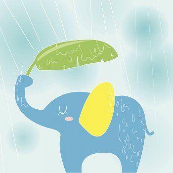 El elefante y la lluvia. Leyenda africana sobre el valor del agua.