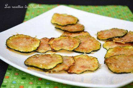 Chips de courgettes grillées au parmesan