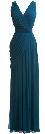 Navy Teal Bridesmaid dress for Autumn Fall wedding