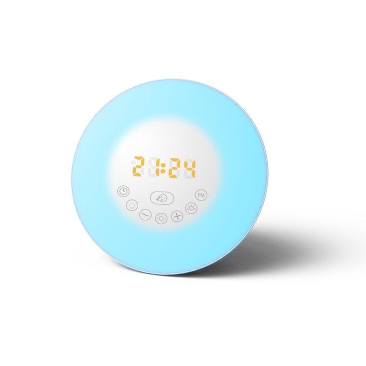 Digital Wake Up Smart Alarm Clock with Sunrise Simulation LED Sales Online eu - Tomtop.com