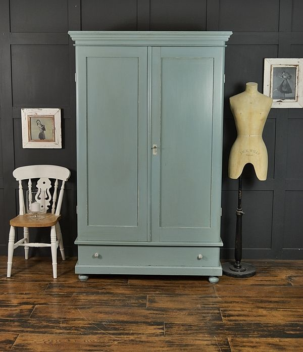 Farrow U0026 Ball Oval Room Blue Antique Shabby Chic Wardrobe Artwork
