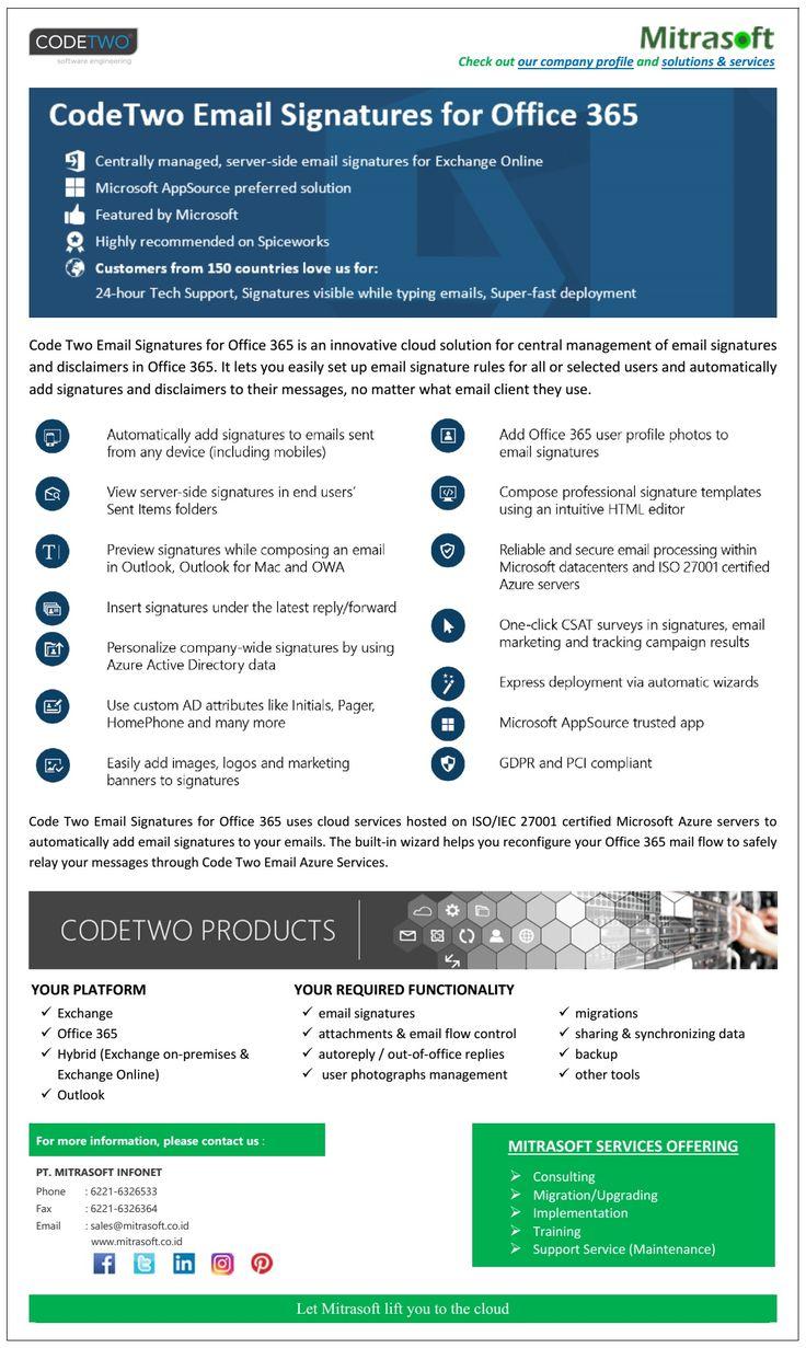 CodeTwo Email Signatures for Office 365 (Dengan gambar)