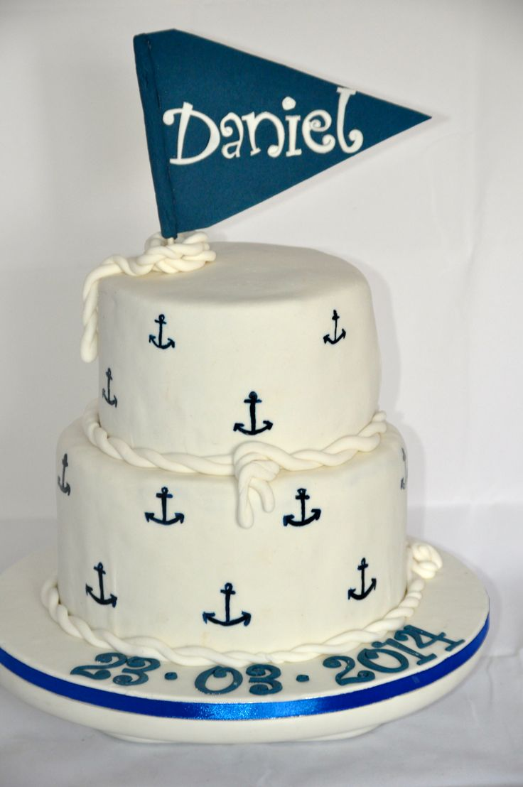 A Sailor Themed Christening Cake