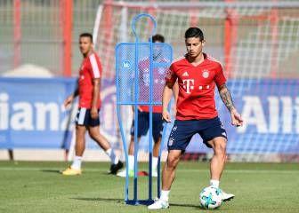 James y su primer entrenamiento en el Bayern