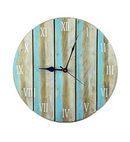 Antique Weathered Vintage Wall Clock | Hand Crafted Decor | Nagina International by Nagina International (12 Inches)  #Antique #Clock #Crafted #Décor #hand #Inches #International #Nagina #RusticWallClock #Vintage #Wall #Weathered The Rustic Clock