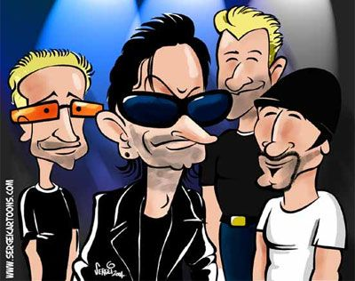 The boys in caricature