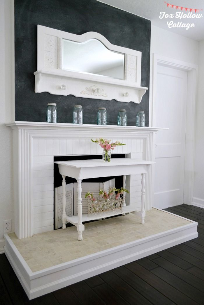 a simple spring mantel vintage cottage style diy