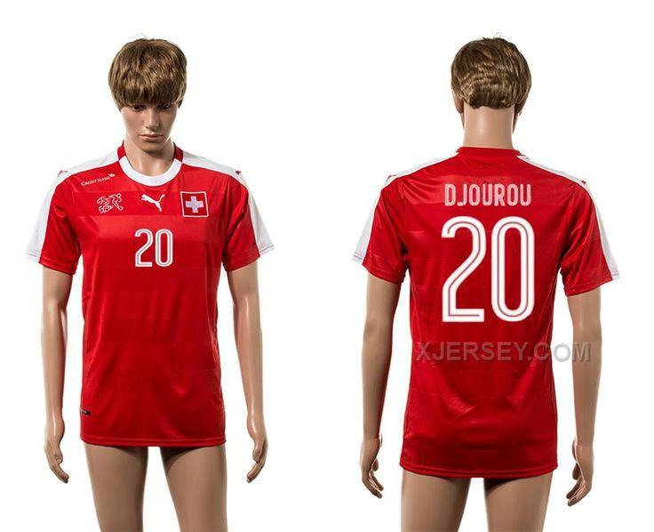http://www.xjersey.com/switzerland-20-djourou-home-euro-2016-thailand-jersey.html SWITZERLAND 20 DJOUROU HOME EURO 2016 THAILAND JERSEY Only $35.00 , Free Shipping!