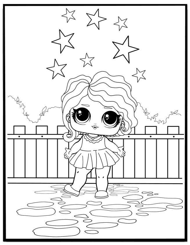 Раскраски «Куклы LOL» - «Кукла ЛОЛ леди волна» в 2020 г ...