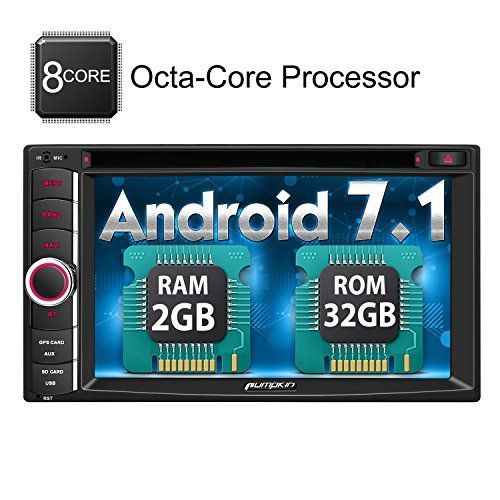 Android 7.1 Car Stereo, Octa Core 32GB+ 2GB Double Din DVD CD Player with Bluetooth GPS Navigation 6.2 inch Touch Screen - Support WIFI, MirrorLink, Backup Camera, AUX Input, USB SD, Dash Cam. For product info go to:  https://www.caraccessoriesonlinemarket.com/android-7-1-car-stereo-octa-core-32gb-2gb-double-din-dvd-cd-player-with-bluetooth-gps-navigation-6-2-inch-touch-screen-support-wifi-mirrorlink-backup-camera-aux-input-usb-sd-dash-cam/