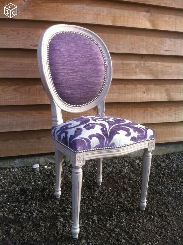 Carcasse chaise médaillon style Louis XVI                                                                                                                                                      Plus