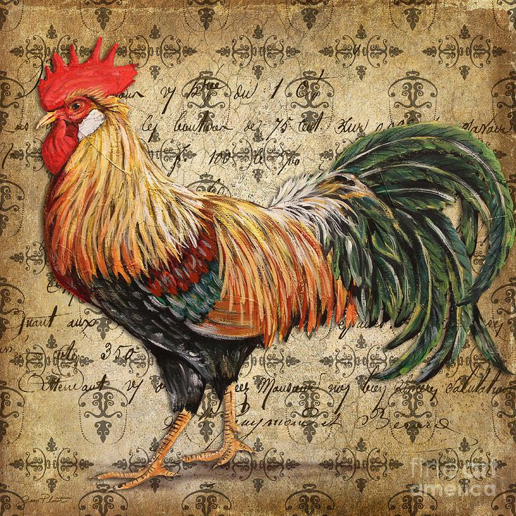 Rustic Rooster-jp2121 Painting