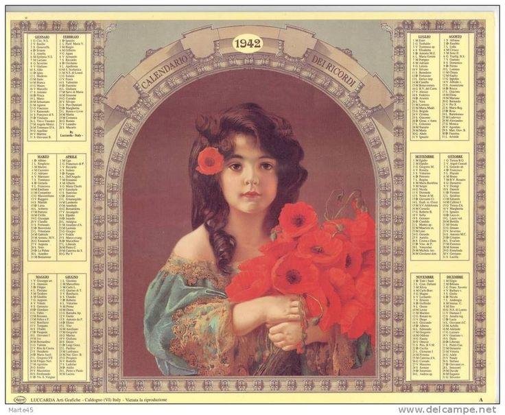 Calendario dei ricordi anno 1942 numero dell 39 oggetto for Numero dei parlamentari italiani