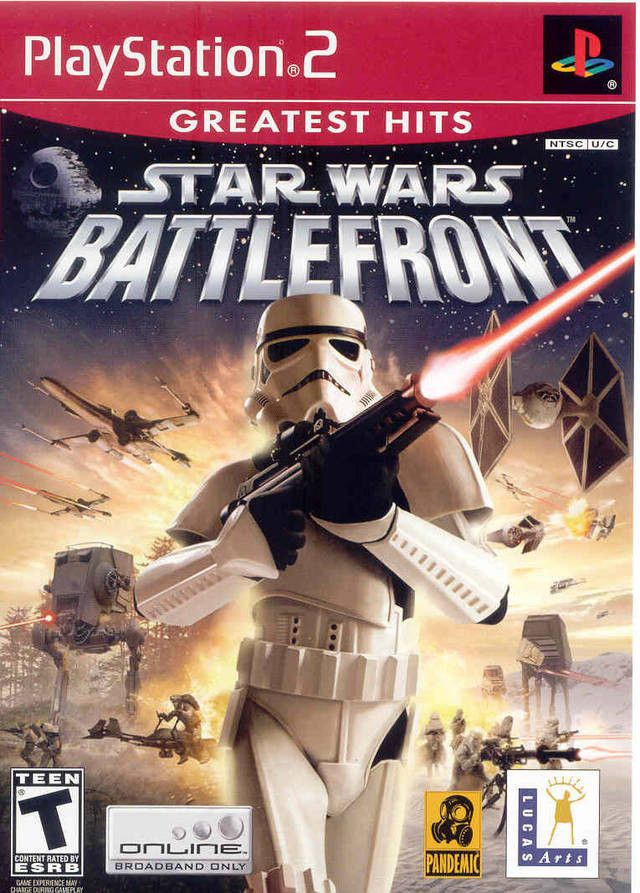 Star Wars Battlefront (Sony PlayStation 2, 2004) Greatest Hits