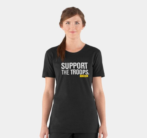 Women s ua tactical support i will t shirt health for Under armour shirts at walmart