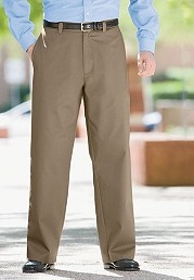 Big and Tall Rigid Waist Wide-Leg Chinos image