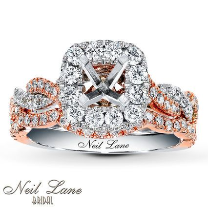 Jared - Neil Lane Bridal Setting 7/8 ct tw Diamonds 14K Two-Tone Gold