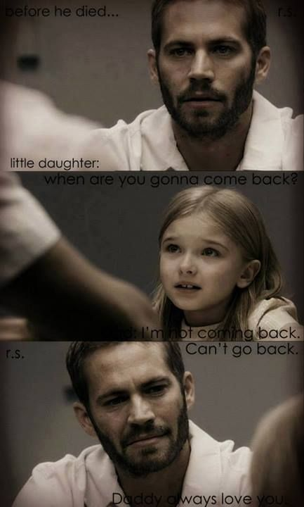 In this very touching scene of The Lazarus Project  Paul Walker character is sent to death row and his daughter in the last visitation before his execution asks him when you will come home.