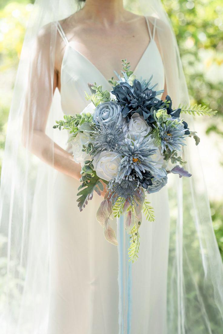 Dusty blue navy flowers box set 14 styles in 2021
