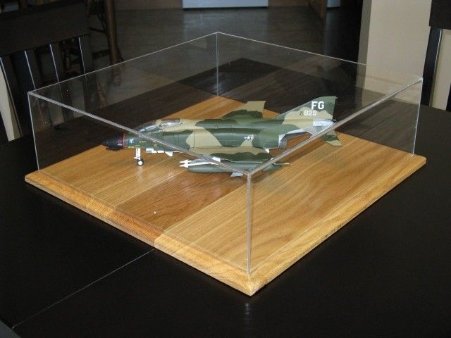 Acrylic and Oak Scale Model Display Case