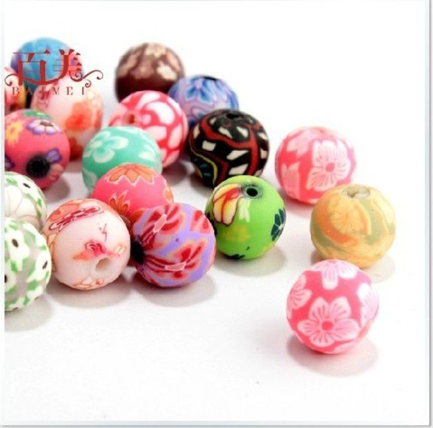 12mm 80pcs Polymer Clay Bead - Wadsfred - Koraliki i kamienie jubilerskie