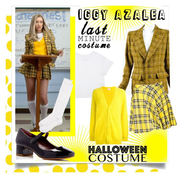"""Iggy azalea last minute costume"" by vivistyle21 on Polyvore featuring Jennifer Paganelli, Yves Saint Laurent, Giamba, Marc Jacobs and Kate Spade"